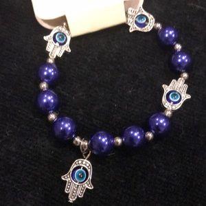 Jewelry - NEW Hamsa Hand of Fatima protective eye bracelet